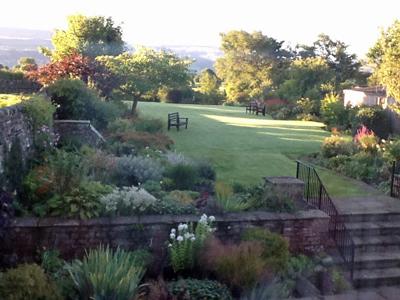 Same English garden in the fall