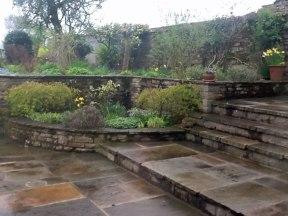 An English garden in the spring