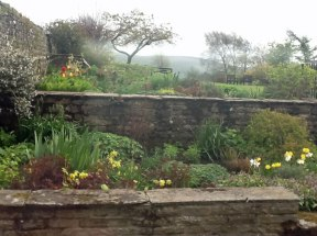 Stone walls enhance garden