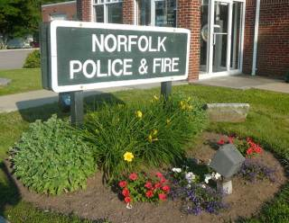 Norfolk Fire and Police Station Sign