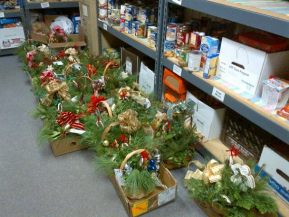 Ready to be delivered at the Food Pantry
