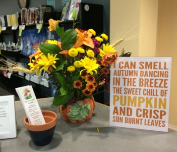 October display by Marge Morion-Boyle