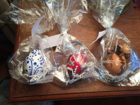 Hand-decorated blown eggs