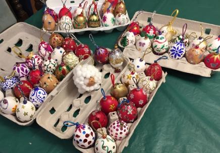 We decorated 6 dozen eggs!