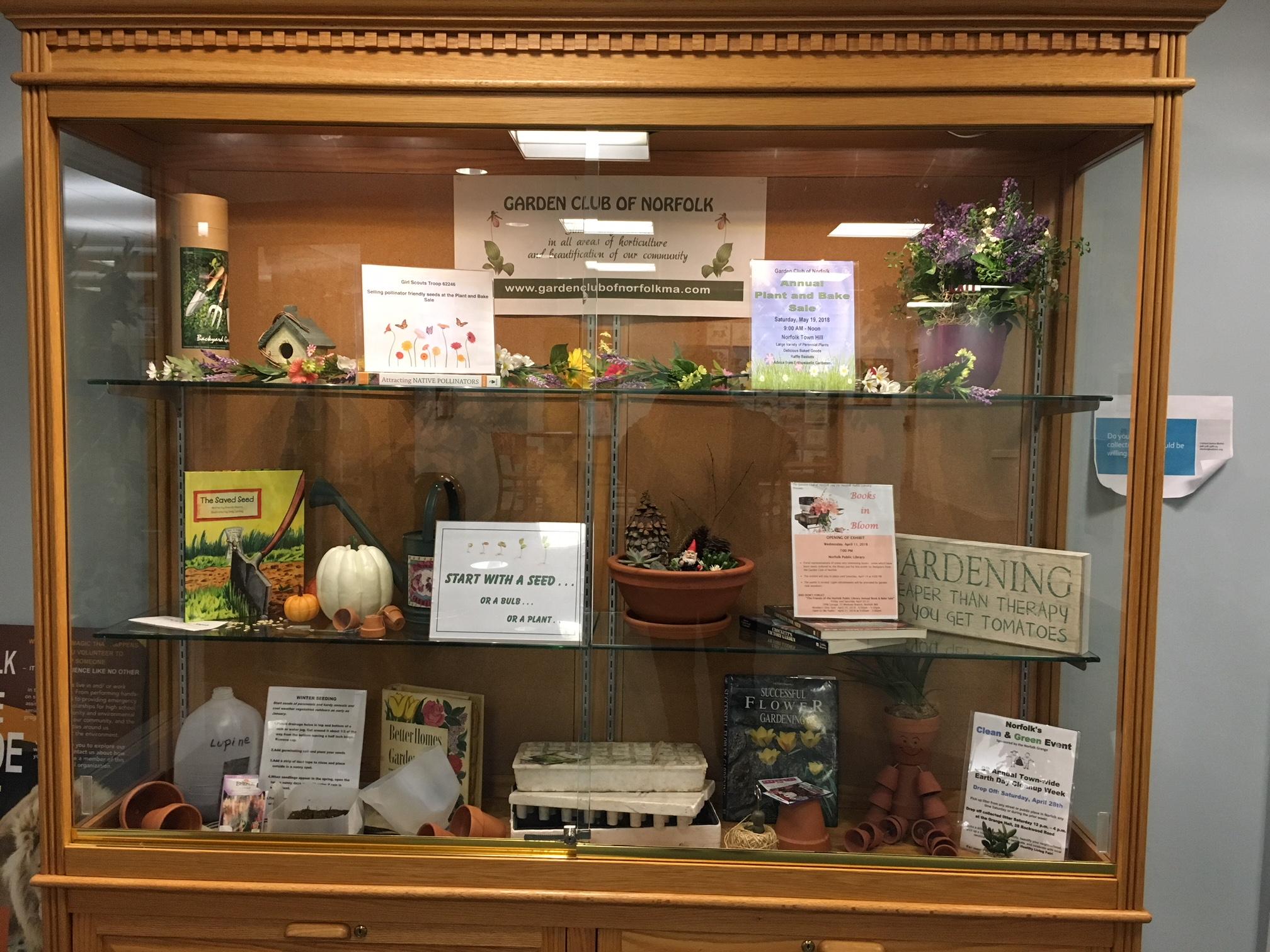 Norfolk Library Display Case – The Garden Club of Norfolk, Inc.