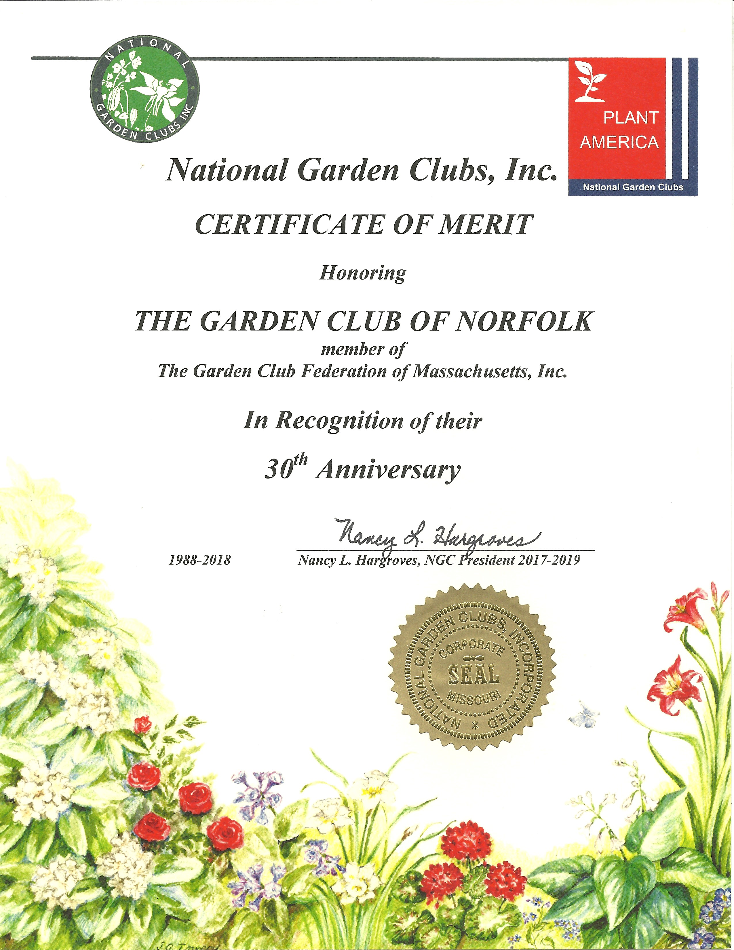 garden club of norfolk awards and grants the garden club of