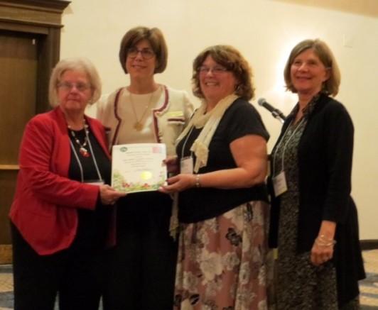 Receiving 30th anniversary award
