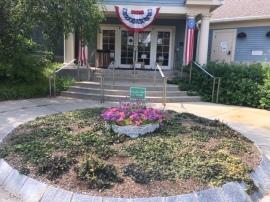 Library Entrance Garden